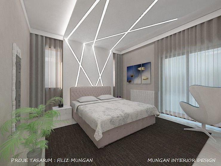 MUNGAN INTERIOR DESIGN Modern style bedroom