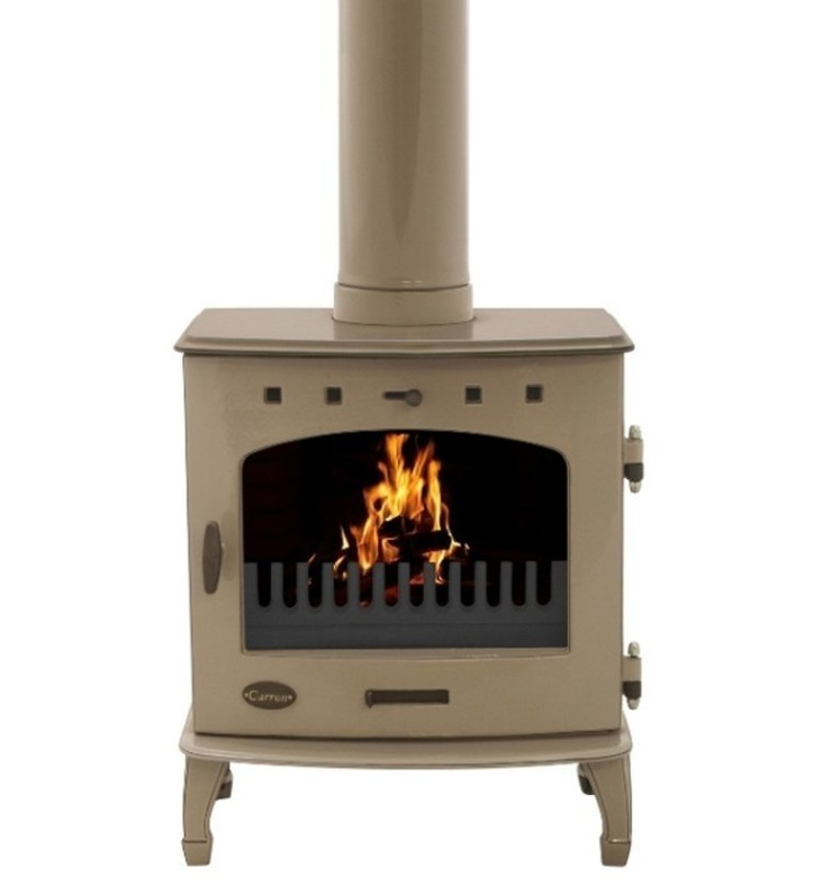 Carron Antique Enamel 7.3kW Multifuel DEFRA Approved Stove: modern  by Direct Stoves, Modern
