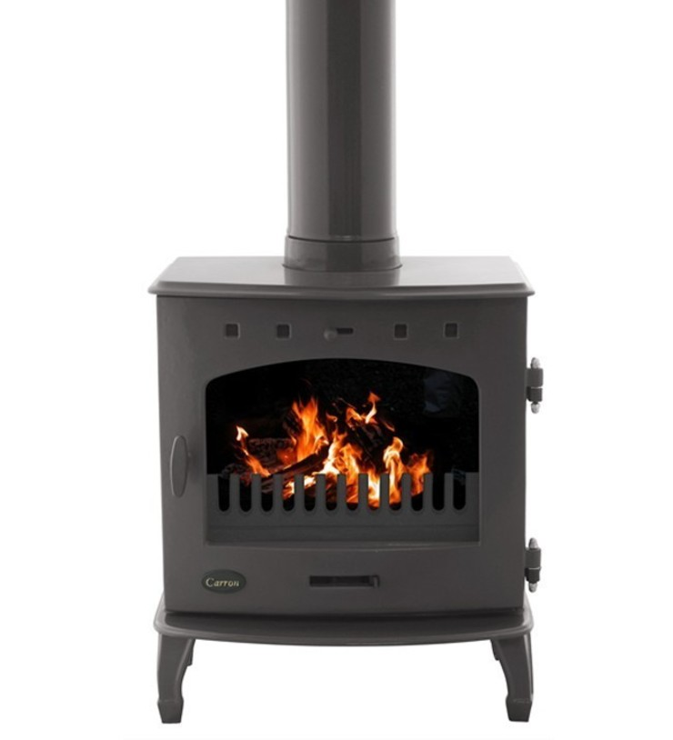 Carron Pebble Enamel 7.3kW Multifuel DEFRA Approved Stove: modern  by Direct Stoves, Modern