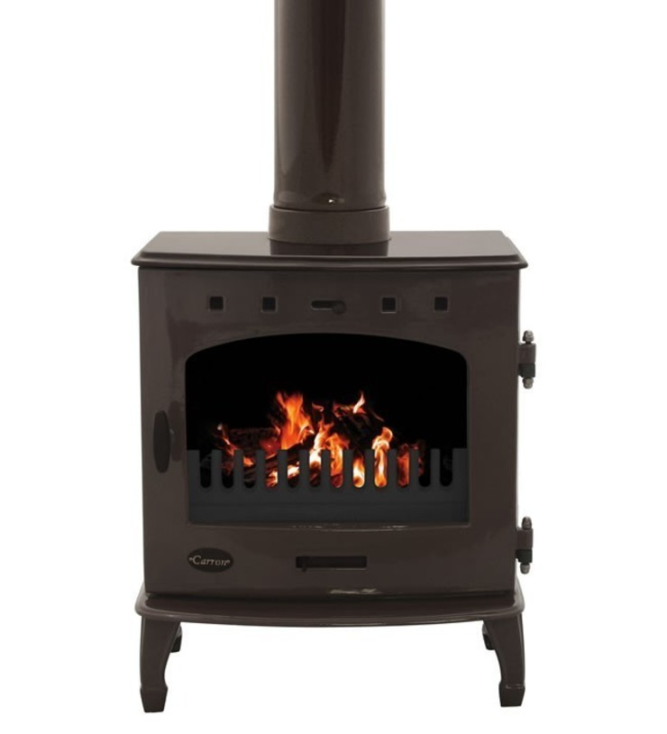 Carron Limited Edition Old Penny 7.3kW Multifuel Stove: modern  by Direct Stoves, Modern