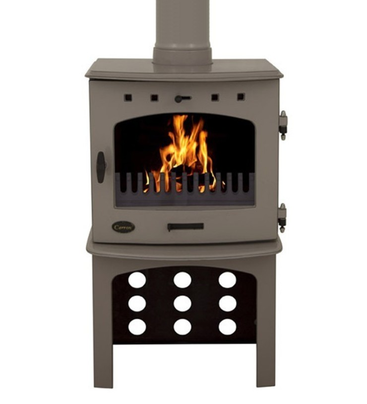 Carron Antique Enamel 7.3kW Multifuel DEFRA Approved Stove With Log Store: modern  by Direct Stoves, Modern
