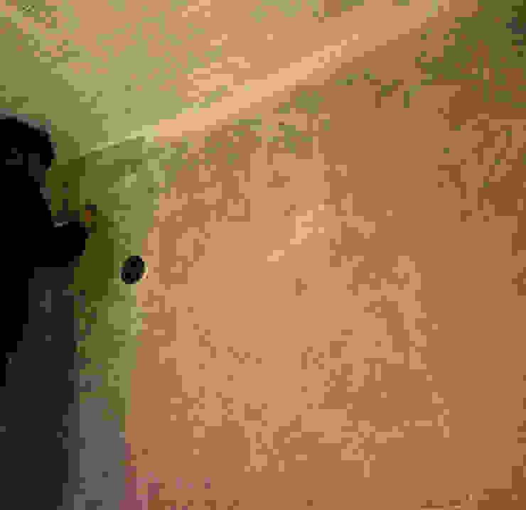 Rivestimento in pietra per parete di sfondo di stufa a pellet di Pavimento Moderno Moderno