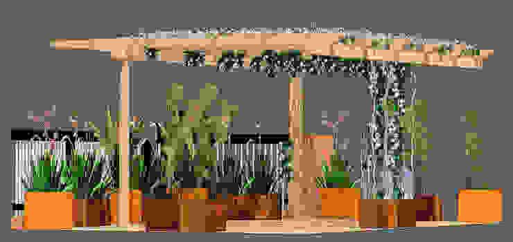 Terraza en Atico en Barcelona:  de estilo tropical de Paisajismo Digital, Tropical