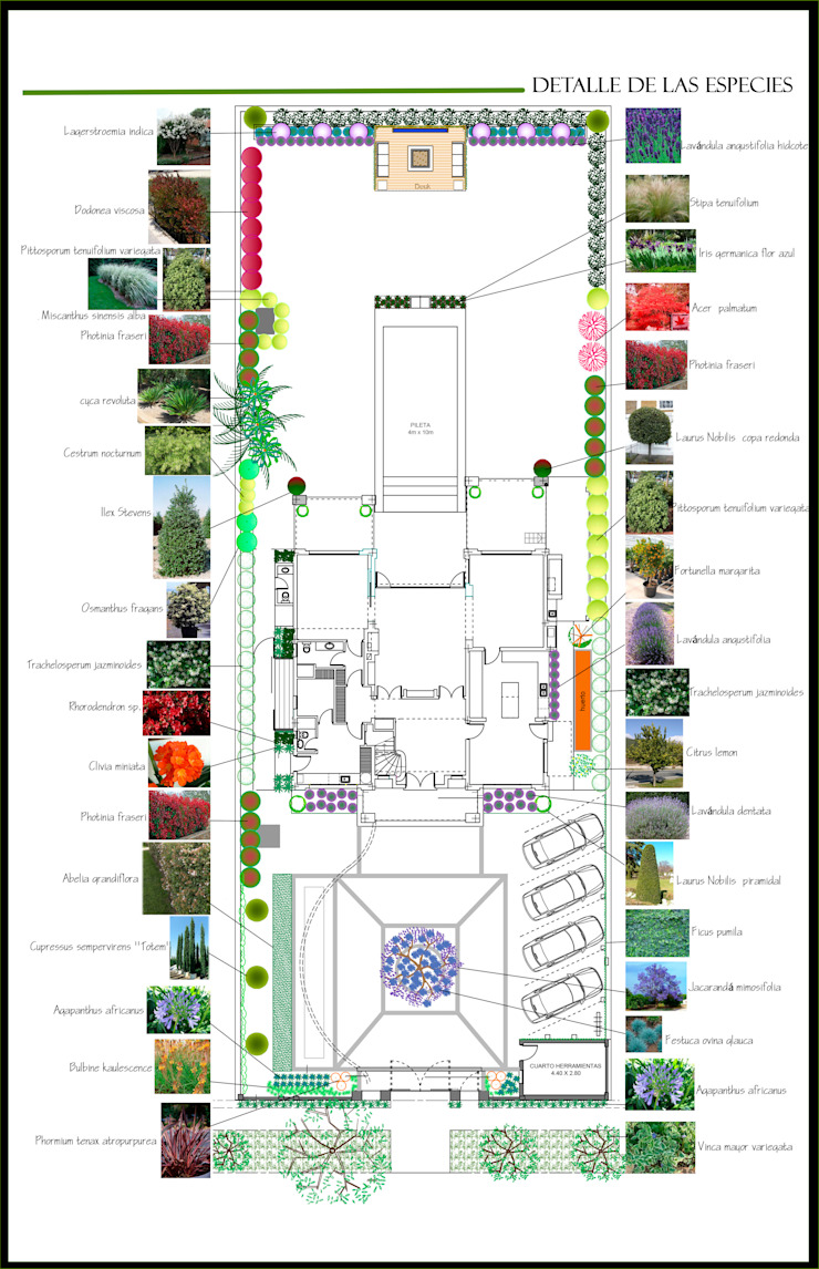 Jardin privado en Buenos Aires, Argentina Jardines de estilo clásico de Paisajismo Digital Clásico