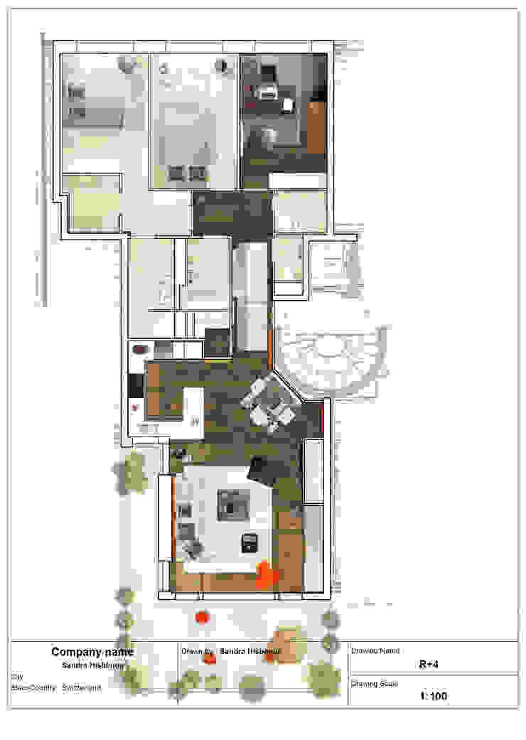 Appartement en attique, Suisse par Sandra Hisbèque Minimaliste