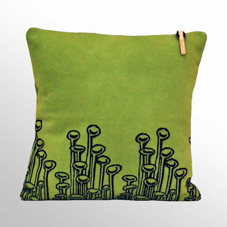 Chouchette – Chouchette 'Lamp' Cushion illustrated by artist Cristobal Dam: modern tarz , Modern
