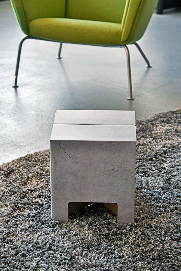 CONCRETE Dutch Design Chair Industriale Wohnzimmer von Dutch Design Industrial