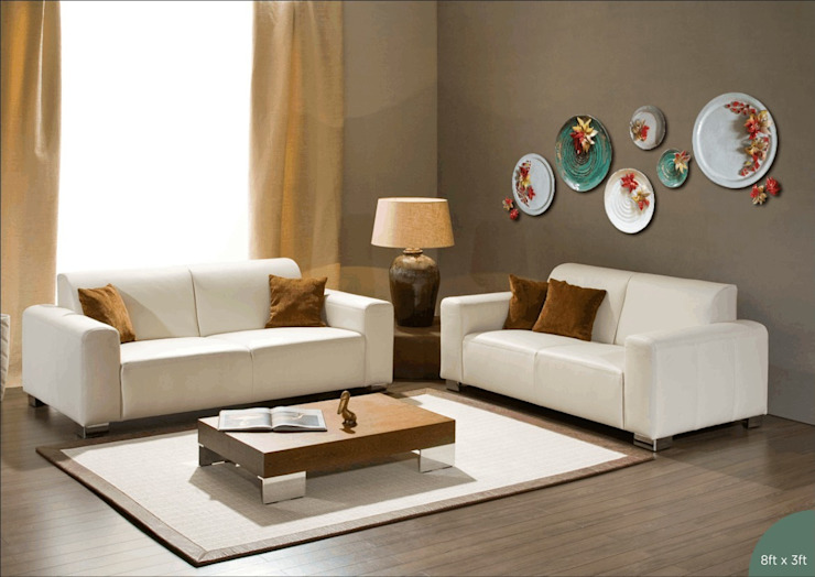Handmade Ceramic Platters Morbi Elegance AND Balaji Wall Texture Corridor, hallway & stairsAccessories & decoration