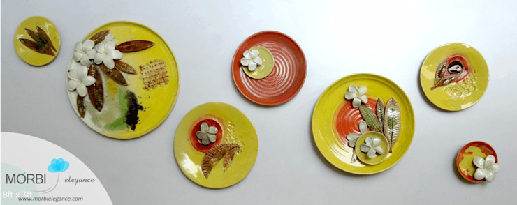 Handmade Ceramic Mural Morbi Elegance AND Balaji Wall Texture Corridor, hallway & stairsAccessories & decoration