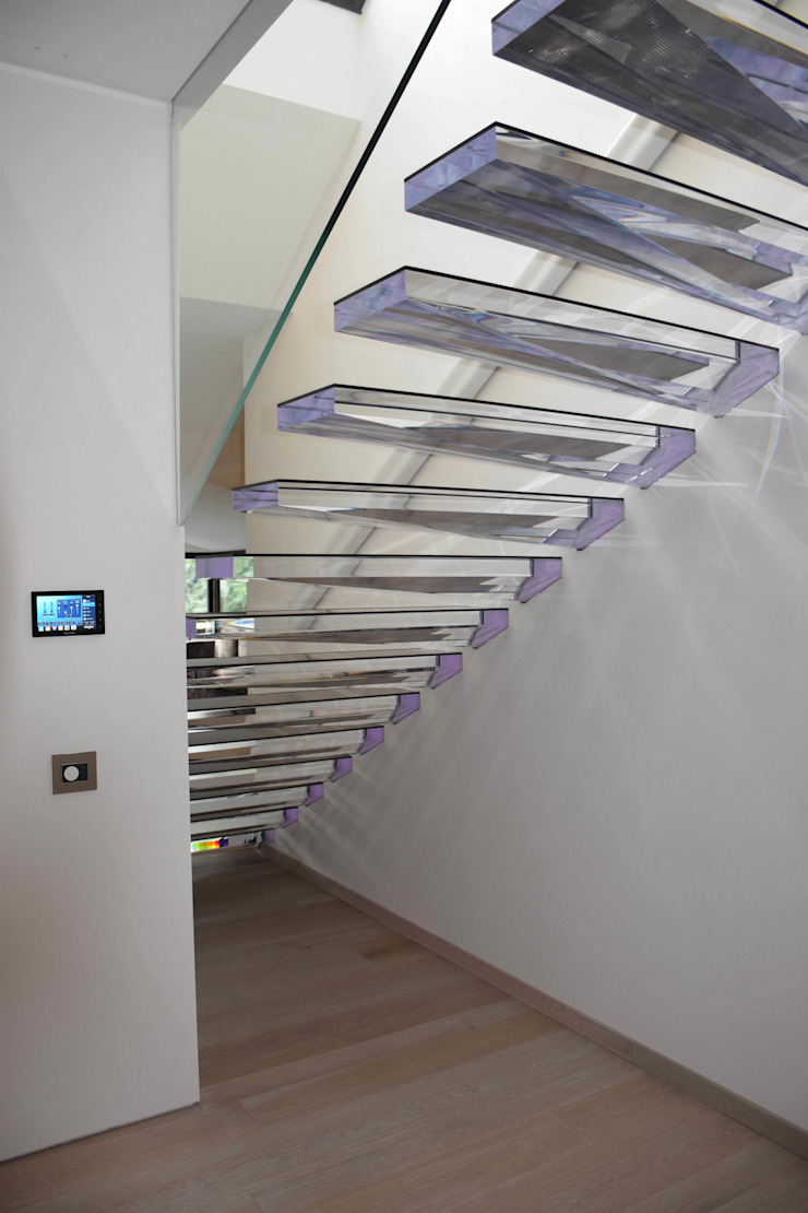 Kragarmtreppe aus Acryl Siller Treppen/Stairs/Scale Treppe Glas Transparent
