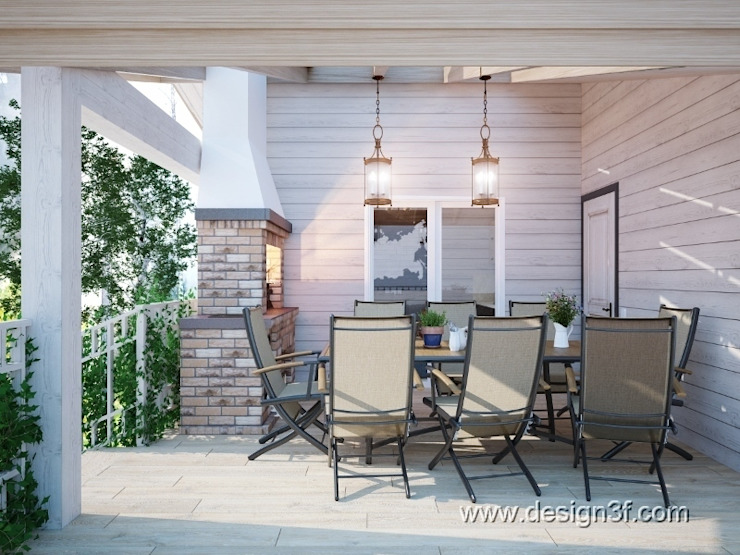 Balcones y terrazas modernos de студия Design3F Moderno