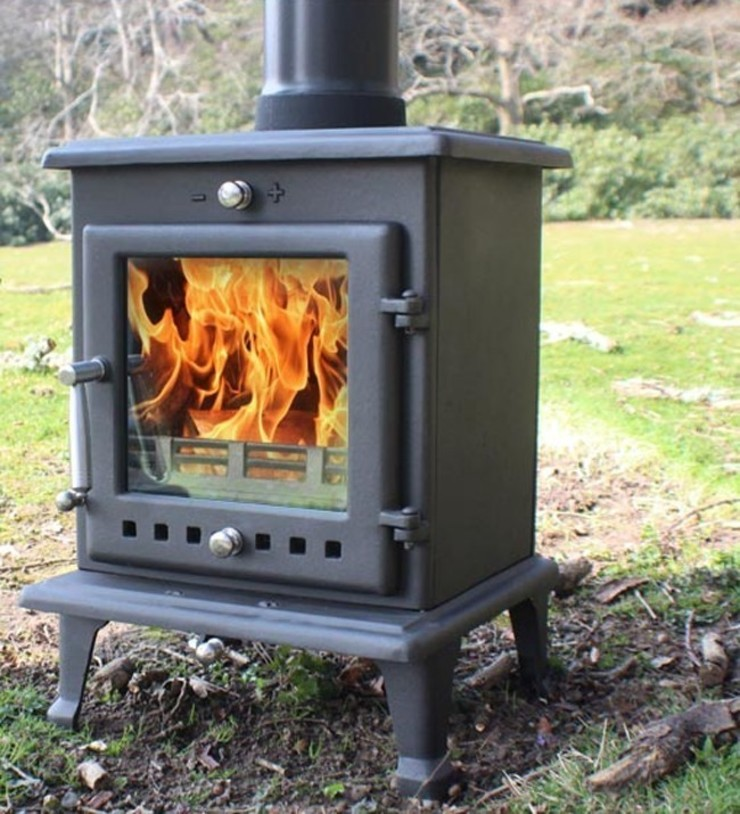 Ekol Crystal 5kW Wood Burning - Multi Fuel DEFRA Approved Stove: country  by Direct Stoves, Country
