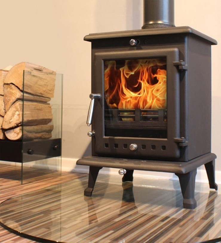 Ekol Crystal 8kW Wood Burning - Multi Fuel DEFRA Approved Stove: country  by Direct Stoves, Country