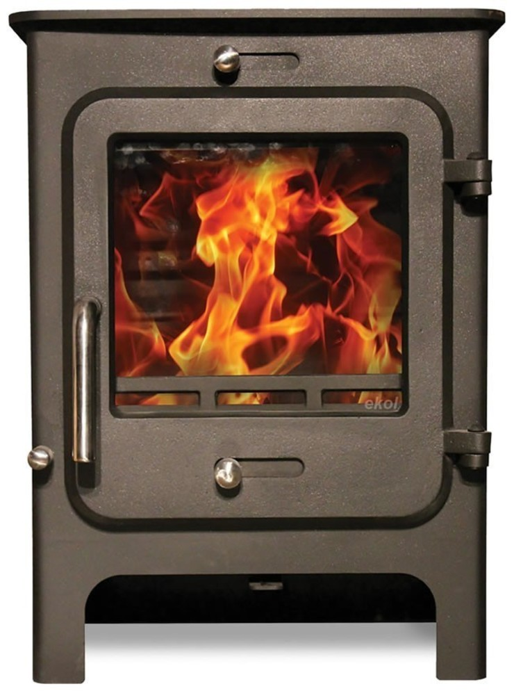 Ekol Clarity 5kW Wood Burning - Multi Fuel DEFRA Approved Stove: modern  by Direct Stoves, Modern