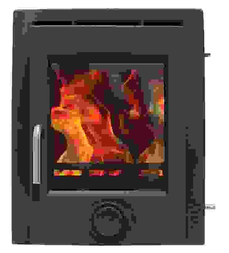 Ekol Inset 8kW Matt Black Wood Burning - Multi Fuel DEFRA Approved Stove: modern  by Direct Stoves, Modern