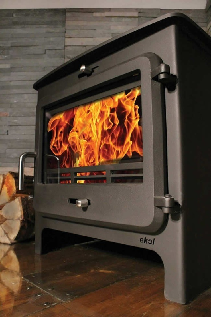 Ekol Clarity 12kW Wood Burning - Multifuel DEFRA Approved Stove: modern  by Direct Stoves, Modern