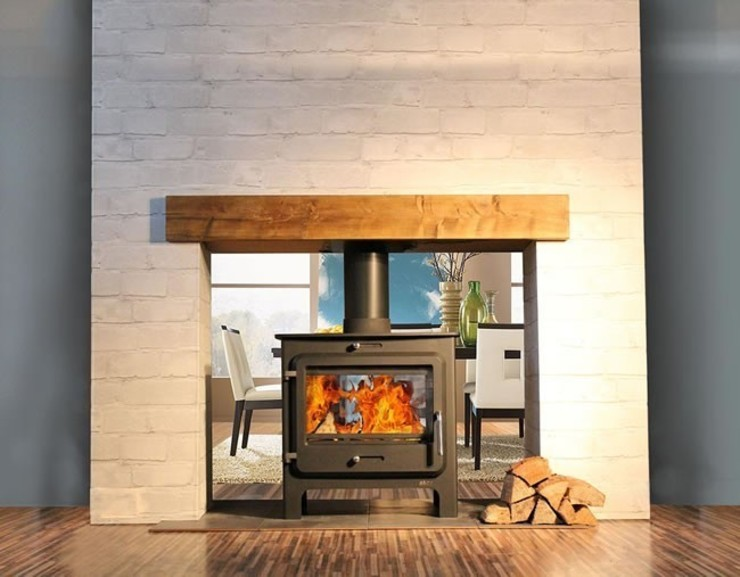 Ekol Clarity DS 14kW Wood Burning - Multi Fuel DEFRA Approved Stove: modern  by Direct Stoves, Modern