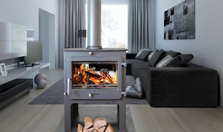 Ekol Clarity DS High 14kW Wood Burning - Multi Fuel DEFRA ApprovedStove: modern  by Direct Stoves, Modern