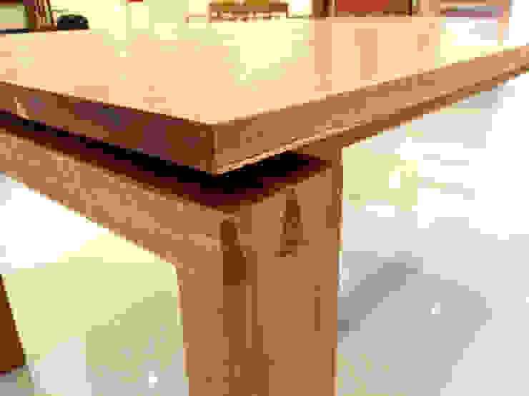 WHITE OAK TABLE: MOKNEE의 현대 ,모던