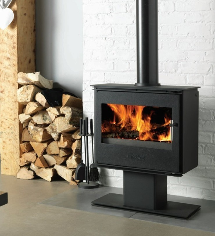Esse 125 Podium Wood Burning - Multi Fuel DEFRA Approved Stove: modern  by Direct Stoves, Modern