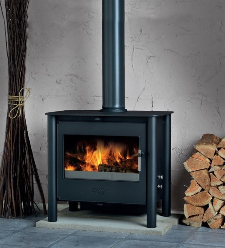 Esse 200XK Contemporary Wood Burning - Multi Fuel DEFRA Approved Stove: modern  by Direct Stoves, Modern