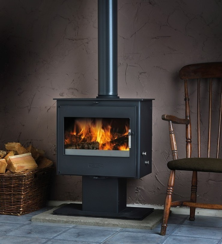 Esse 200XK Podium Wood Burning - Multi Fuel Stove: modern  by Direct Stoves, Modern