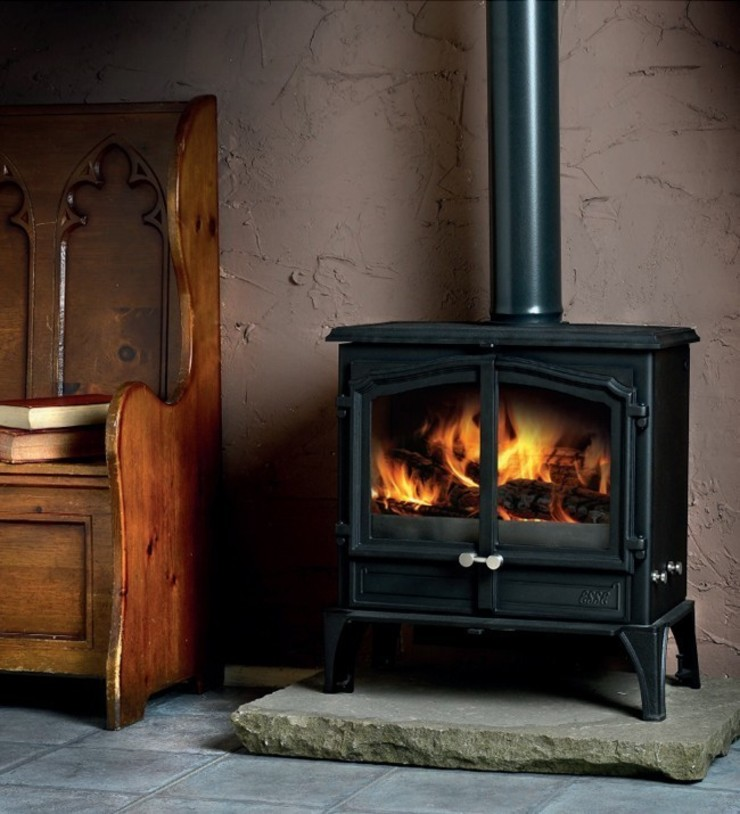 Esse 200XK Double Wood Burning - Multi Fuel Door DEFRA Approved Stove: country  by Direct Stoves, Country