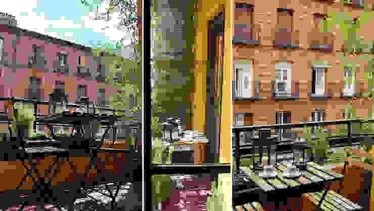 balcón en Chamberí, Madrid Balcones y terrazas de estilo ecléctico de CarlosSobrinoArquitecto Ecléctico