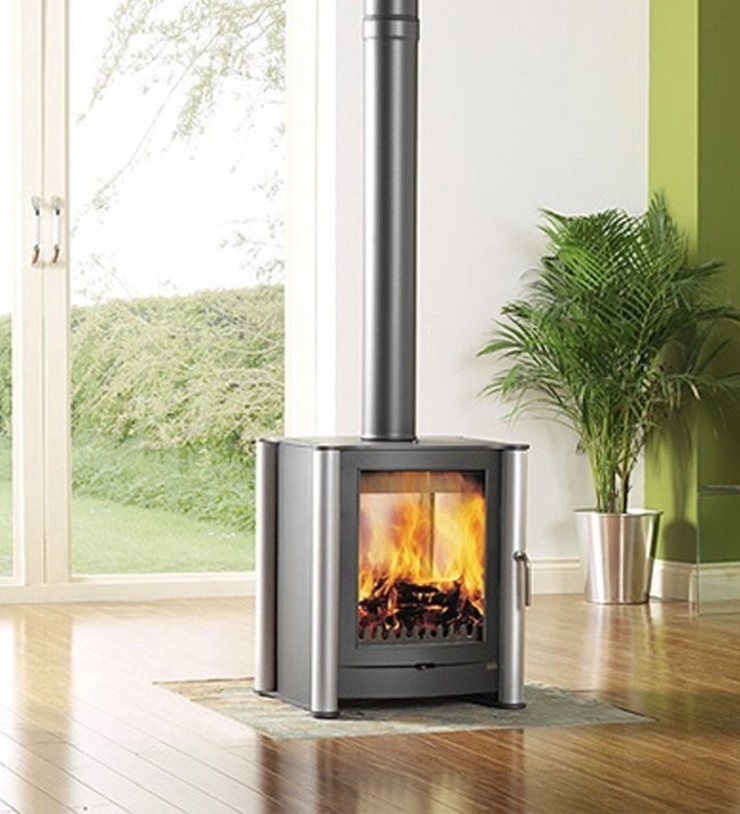 Firebelly FB1 Double Sided Woodburning Stove: modern  by Direct Stoves, Modern