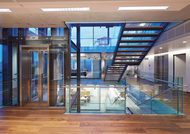 AVCIARCHITECTS_09_INTERIOR Modern Koridor, Hol & Merdivenler Avci Architects Modern