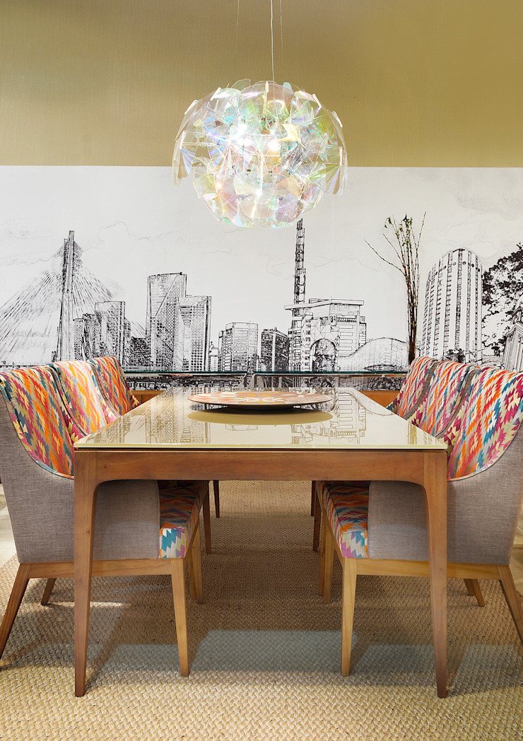 Eclectic style houses by Adriana Scartaris: Design e Interiores em São Paulo Eclectic
