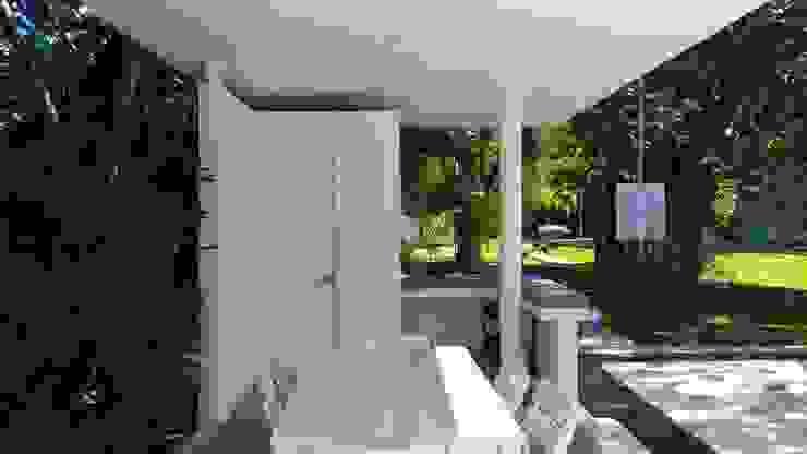 area comun condominio Azul en Playacar Jardines modernos de sandro bortot arquitecto Moderno