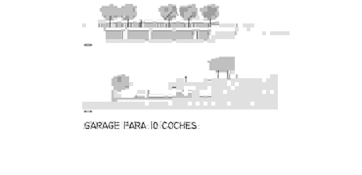 Garage façade and section FG ARQUITECTES