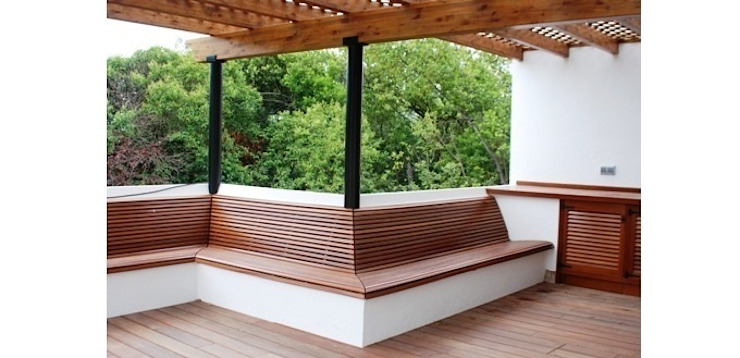 Bench of the barbecue Modern Terrace by FG ARQUITECTES Modern