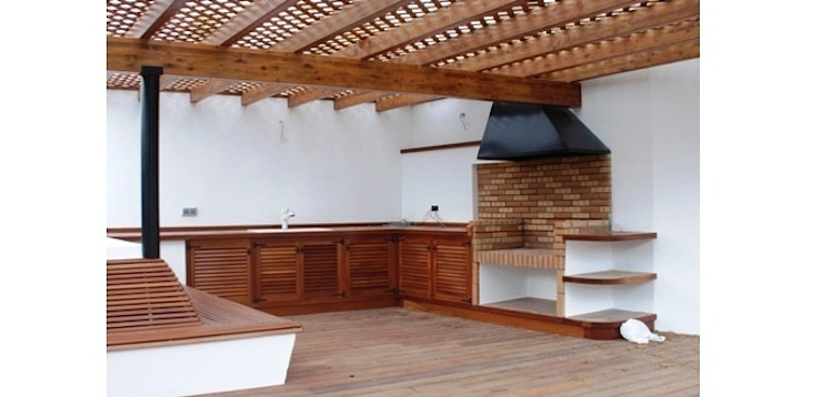 Barbecue Modern Terrace by FG ARQUITECTES Modern