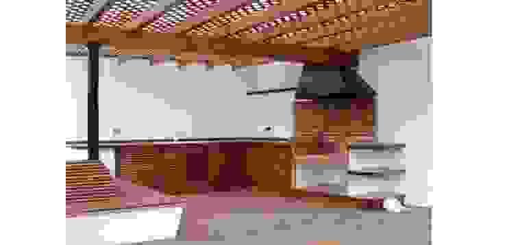 Barbecue FG ARQUITECTES Modern balcony, veranda & terrace