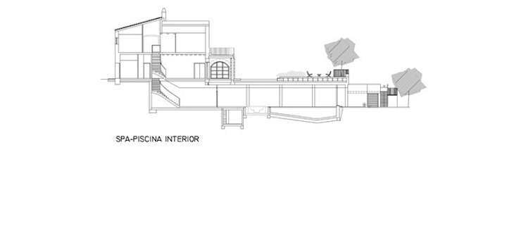 Section of the building FG ARQUITECTES