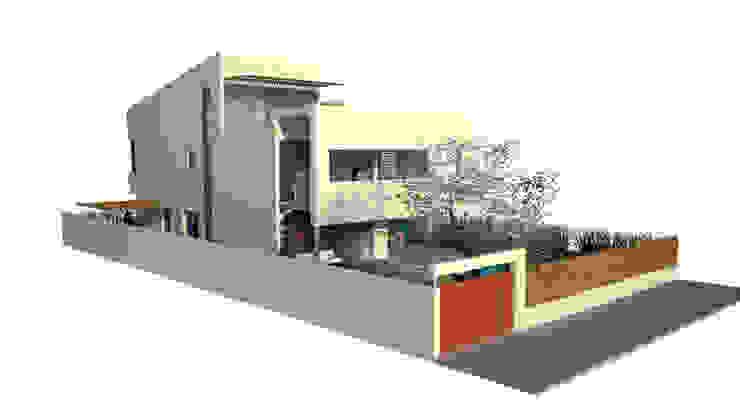 Main façade and lateral façade Modern Houses by FG ARQUITECTES Modern