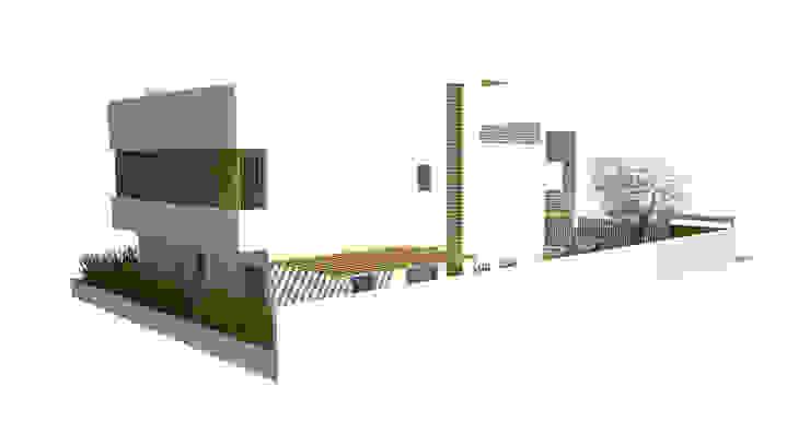 Fachada lateral Casas de estilo moderno de FG ARQUITECTES Moderno