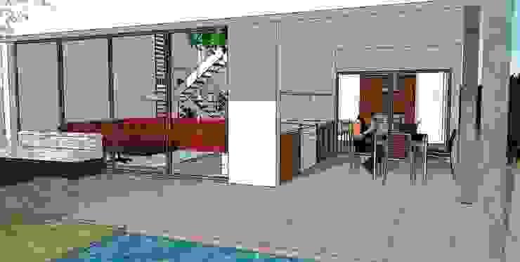 Ground floor Modern Living Room by FG ARQUITECTES Modern