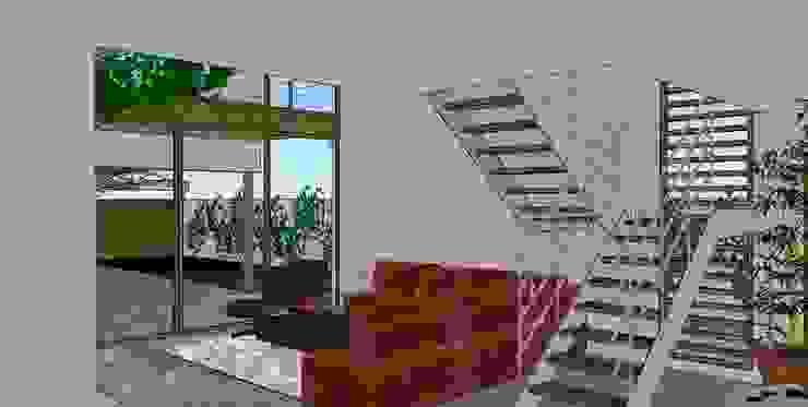 Living room in ground floor Modern Living Room by FG ARQUITECTES Modern