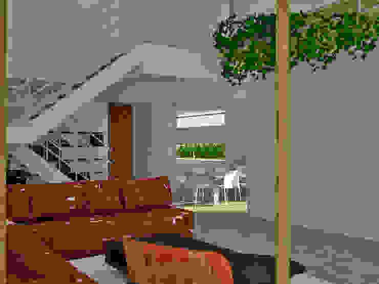 Sala de estar en planta baja Salones de estilo moderno de FG ARQUITECTES Moderno