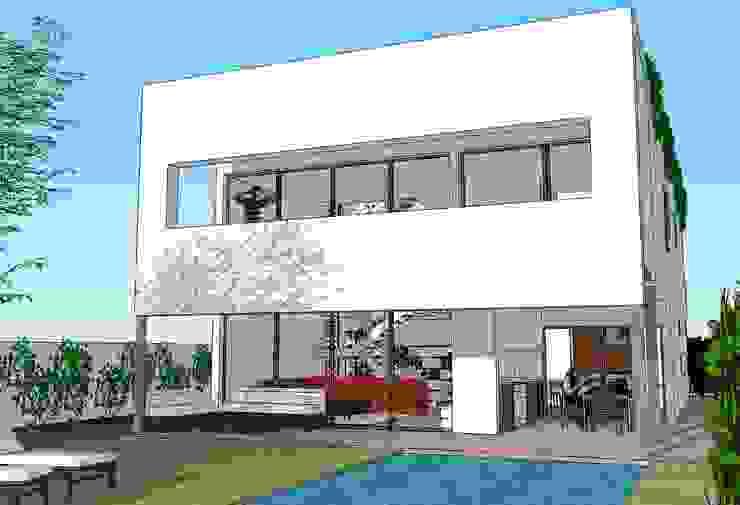 Fachada principal Casas de estilo moderno de FG ARQUITECTES Moderno