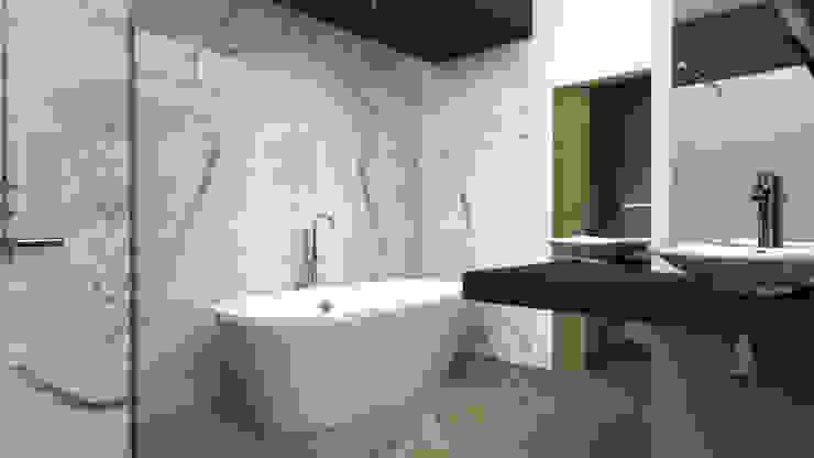 Salle de bains atypique Salle de bain moderne par Dimension H Moderne