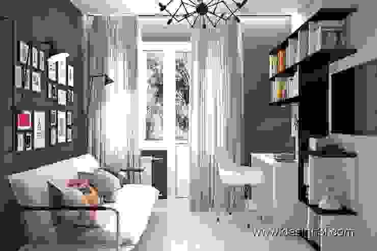 Cuartos de estilo moderno de студия Design3F Moderno