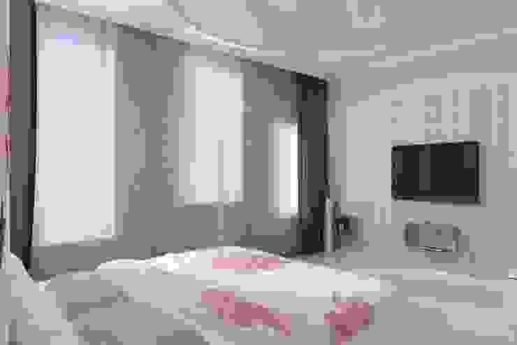 Идея для гардеробной в спальне. Спальня в тропическом стиле от Цунёв_Дизайн. Студия интерьерных решений. Тропический