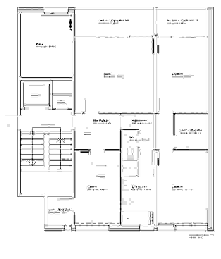 Architecture d'intérieur - Appartement Bordeaux, France par Sandra Hisbèque Moderne