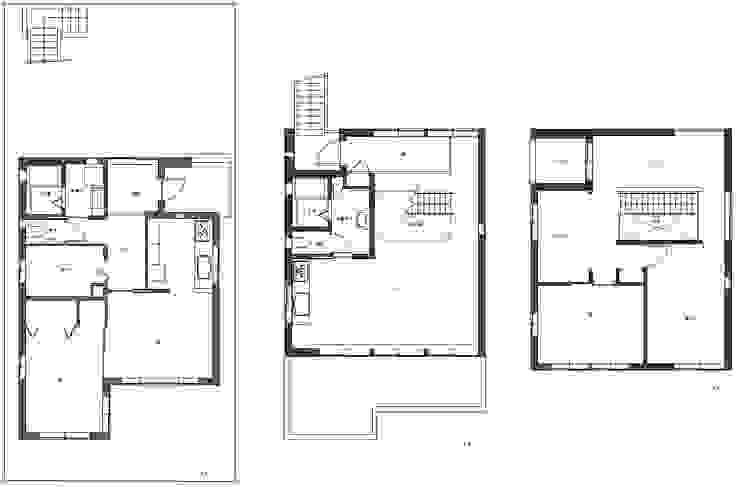 平面プラン: 一級建築士事務所 SAKAKI Atelierが手掛けた現代のです。,モダン