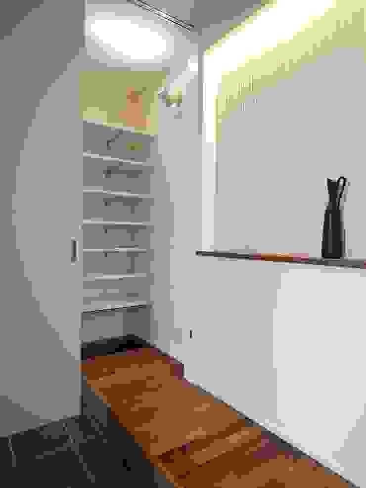 玄関からシューズクローク オリジナルスタイルの 玄関&廊下&階段 の ai建築アトリエ オリジナル
