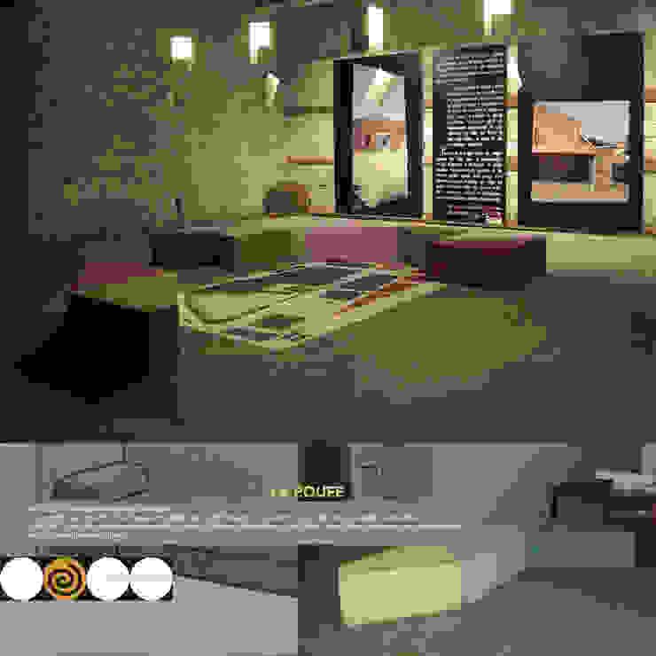 LA POUFF - sistema di sedute modulare di Studio Arkilab - Seby Costanzo Mediterraneo
